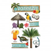 Sticker - 3D / Caribbean
