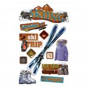 3D samolepky / Skiing