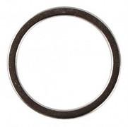 Metal jewellery ring flat, 20mm / silver / 2pcs