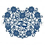 Vyrezávacia šablóna / Tattered Lace Loving Heart