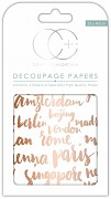 Craft Consortium Well Travelled Decoupage Papers