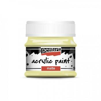 Pentart akrylová farba matná / vintage žltá