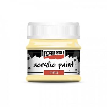 Pentart akrylová farba matná / biela káva