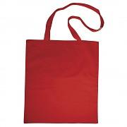 Baumwoll-Tasche mit langen Henkeln rot