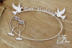 Chipboards - The one - Our Wedding - frame with glasses