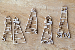 Chipboards - Preserve memories - Lighthouses / 5pcs