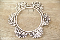Chipboards - Doily Lace - Round Doily