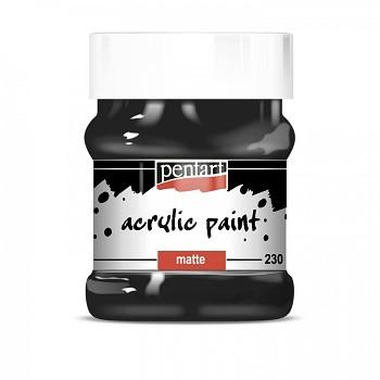 Pentart akrylová farba matná 230ml / black