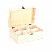Krabička na čaj, 6 priehradiek / 23x16x9cm