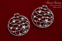 Chipboards - Starry Springs - Baubles 01 / 5x5cm / 2pcs