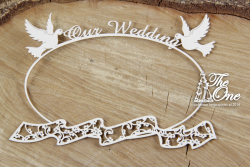 Chipboards - The one - Our Wedding - frame with scarf