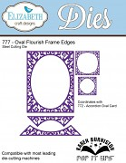 Oval Flourish Frame Edges Wafer Thin Metal Die / kovové šablóny