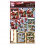 Foiled Decoupage - Santa's List