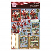 Santa's List / Decoupage súprava / 3D obrázky