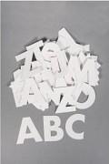 ABC / papírové výřezy / 7 cm / 250g/m² / 79ks