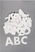 ABC / papierové výrezy / 7cm / 250g/m /79ks