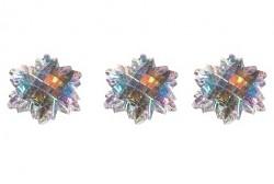 Samolepiace kamienky / Snowflakes / 1cm / 36ks