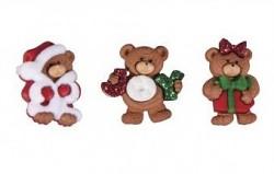 Gombíky - Cuddly Christmas / 2,5cm / 3ks