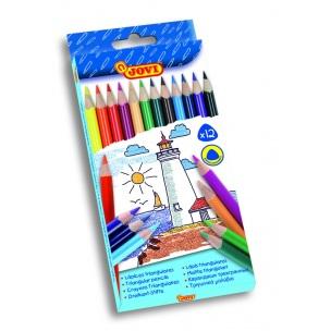 Triangular pencils 12pcs, 175mm - 7,5mm
