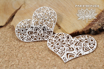 Chipboardy - Mehendi - Lace hearts