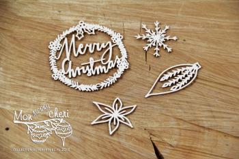 Chipboards - Mon MERRY cheri -Merry Christmas 02