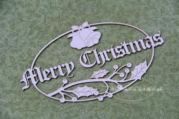 Chipboard - Winter joy - Merry Christmas 02 / bells and mistletoe
