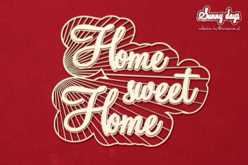 Chipboard - Sunny Days - Home sweet Home