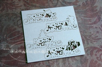 Chipboard - Merry Christmas - wordlet Santa, gift, tree, sock