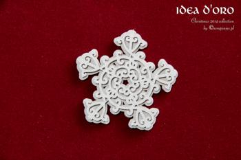 Chipboard - Idea d'oro - 2-layers snowflake / 4,5x4,5cm