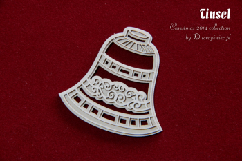 Chipboard - Tinsel - 2-layers Bell / 5x5cm