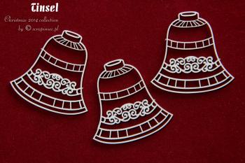 Chipboards - Tinsel - Bells / 5x5cm / 3pcs