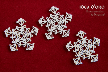 Chipboards - Idea d'oro - Snowflakes / 4,5x4,5cm / 3ks