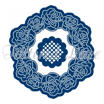 Vyrezávacia šablóna / Victorian Rose Label