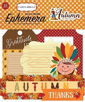 Autumn Frames & Tags Ephemera / papírové výřezy