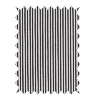 Baumwoll-Stoff 100x70cm / Streifen schwarz