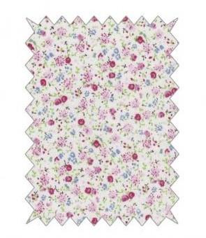 Baumwoll-Stoff 100x70cm / Rosen rosé