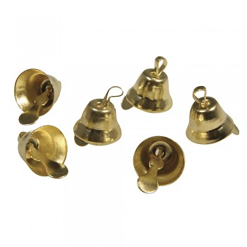 Metal Bells / 1.5x1cm / 24pcs / gold