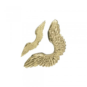 Engelflügel, gold / 4 Stück