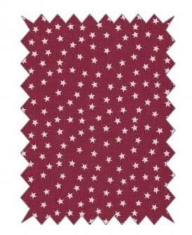 Baumwoll-Stoff 100x70cm / Sterne klassikrot