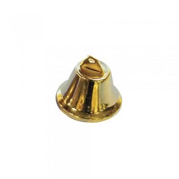 Kovové zvončeky zlaté / 3,8cm / 5ks