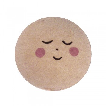 Head of cotton wool: face of an angel / 30mm / 1pc