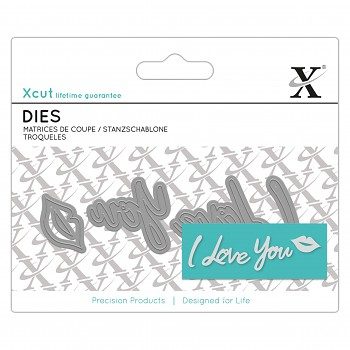 Mini Sentiment Die (4ks) - I Love You