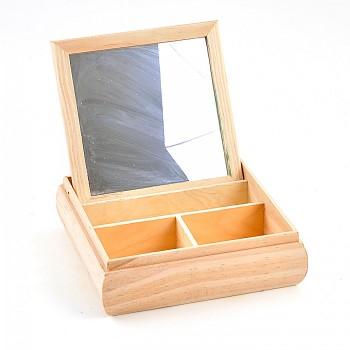Krabička so zrkadlom / 13x13x5 cm