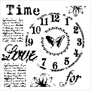 """Stencil Time for love / 6x6"""""""