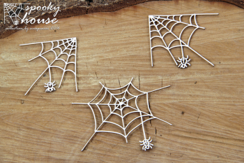 Chipboards - Spooky House - spiders / 3pcs