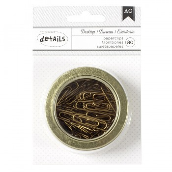 Paperclips gold / 80pcs