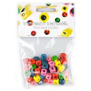 Wooden beads - Letters / 10mm / 60pcs