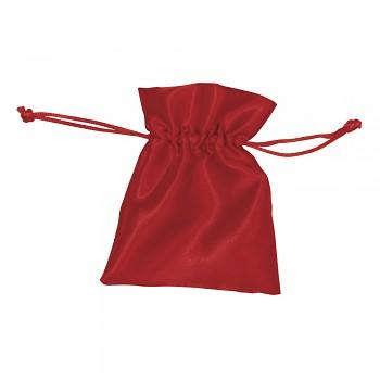 Satin-Säckchen rot / 12,5x10cm / 6 Stück