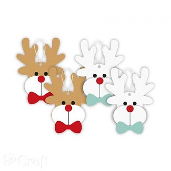 Felt Reindeer 3 Ornament Craft Kit / 4pcs