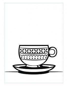 Teacup Saucer / Embosovacia kapsa/ 10,8x14,6cm